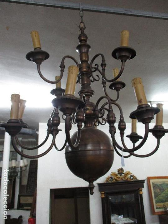 Impresionante gran lámpara holandesa antigua- 1 - Verkauft ...