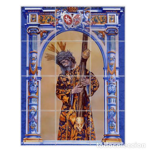 RETABLO DE 12 AZULEJOS 15X15 CTM DE JESÚS DEL GRAN PODER (Antigüedades - Religiosas - Varios)