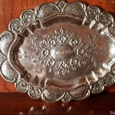 Antigüedades: BANDEJA DE PLATA DEL PLATERO DIONISIO GARCIA. Lote 104780015