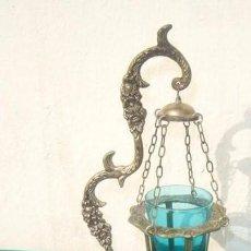 Antigüedades: LAMPARILLA DE BRONCE PLATEADO. Lote 71504311