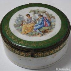 Antigüedades: CAJA DE PORCELANA FRANCESA. S.XIX.. Lote 71527699