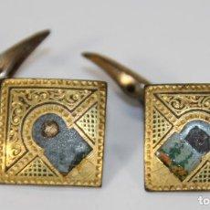 Antigüedades: GEMELOS VINTAGE. METAL DORADO. ESPAÑA. CIRCA 1960.. Lote 71532815