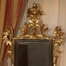 Antigüedades: MARCO CORNUCOPIA MADERA TALLADA DORADO EN ORO FINO. Lote 71547211