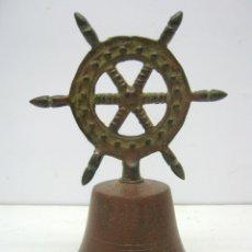 Antigüedades: ANTIGUA CAMPANA NAVAL CON TIMON. Lote 71564047