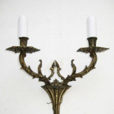 Antigüedades: LAMPARA ANTIGUA PARED APLIQUE BRONCE ESTILO IMPERIO . Lote 71564191