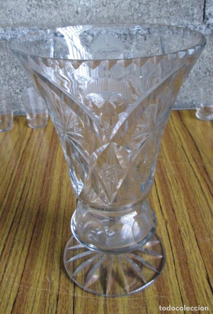 JARRON DE CRISTAL BACCARAT LABRADO (Antigüedades - Cristal y Vidrio - Baccarat )