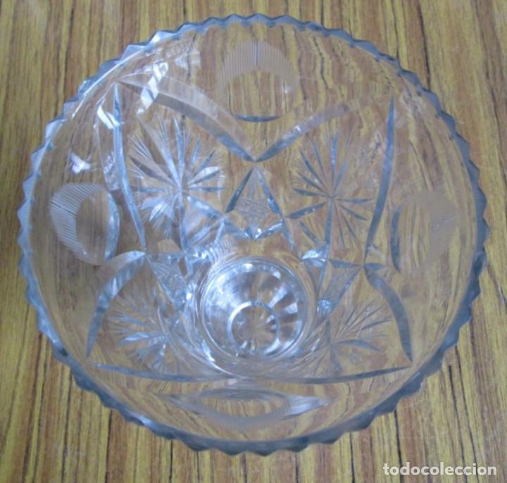 Antigüedades: JARRON de cristal baccarat labrado - Foto 2 - 71564323
