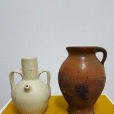 Antigüedades: PUCHERO CASTELLANO Y BOTIJA LEVANTINA.. Lote 71598090