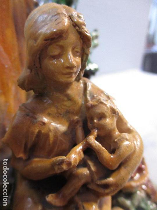 Antigüedades: Antiguo Centro de Mesa - Jarrón - Escultura en Terracota - Figuras, Comiendo en la Fuente - Foto 10 - 71631867
