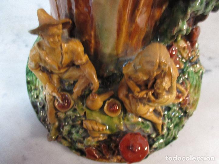 Antigüedades: Antiguo Centro de Mesa - Jarrón - Escultura en Terracota - Figuras, Comiendo en la Fuente - Foto 12 - 71631867