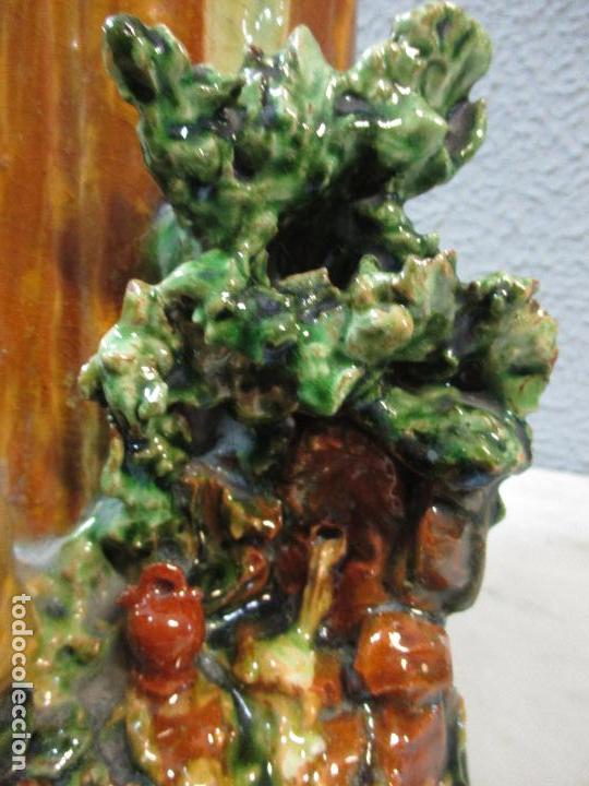 Antigüedades: Antiguo Centro de Mesa - Jarrón - Escultura en Terracota - Figuras, Comiendo en la Fuente - Foto 14 - 71631867