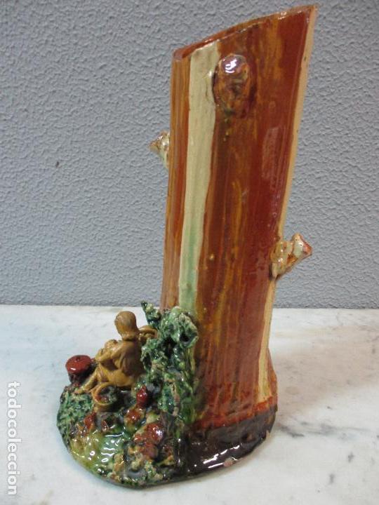 Antigüedades: Antiguo Centro de Mesa - Jarrón - Escultura en Terracota - Figuras, Comiendo en la Fuente - Foto 17 - 71631867
