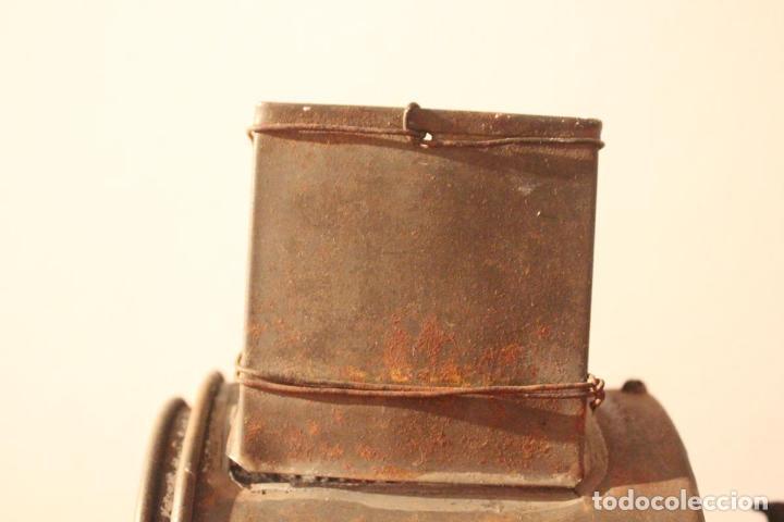 Antigüedades: Antiguo molinillo con base de hierro, sin marca. 30 cm - Foto 13 - 93033544
