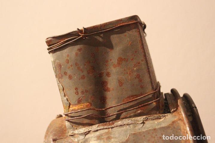 Antigüedades: Antiguo molinillo con base de hierro, sin marca. 30 cm - Foto 16 - 93033544