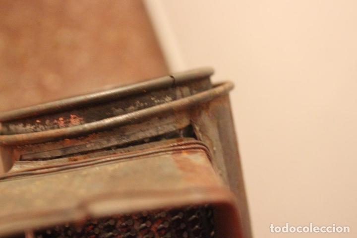 Antigüedades: Antiguo molinillo con base de hierro, sin marca. 30 cm - Foto 17 - 93033544
