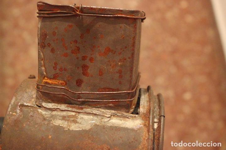 Antigüedades: Antiguo molinillo con base de hierro, sin marca. 30 cm - Foto 18 - 93033544