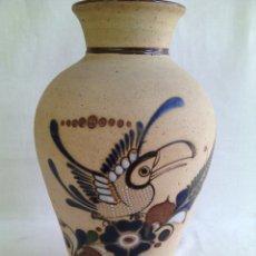 Antigüedades: JARRON CERAMICA MEXICANA DECORADO A MANO. Lote 71691719