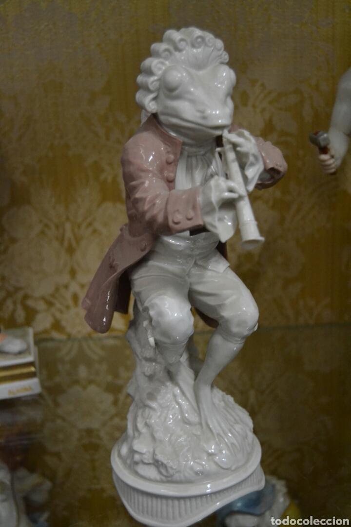 Antigüedades: figura de porcelana algora - Foto 2 - 73050681