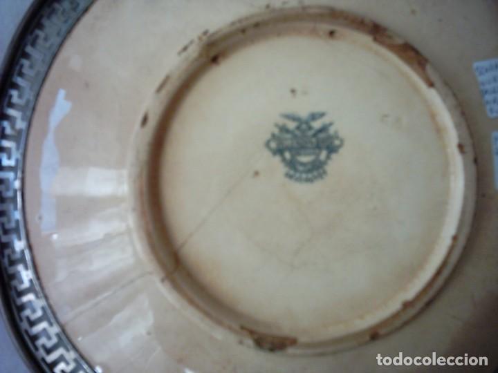 Antigüedades: ANTIGUO PLATO DE LOZA Y METAL VILLEROY & BOCH. SCHARAMBERG WURTEMBERG. SELLO ESTAMPADO DE 1833. - Foto 2 - 71710963