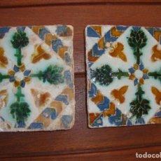 Antigüedades - Pareja de azulejos de Triana siglo XVI - 71759523