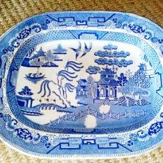 Antigüedades: STAFFORDSHIRE GRAN FUENTE PARA CARNE. STONE CHINA 1826 - 1833. DESTACAN EL AZUL EN DOS TONOS.. Lote 71806394