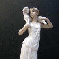 Antigüedades: JOYA! PASTORA GRIEGA DE FULGENCIO GARCIA 1963 FIGURA PORCELANA ZAPHIR LLADRO ORIGINAL PRIMERA EPOCA. Lote 71855803