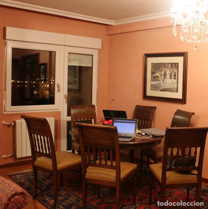 Mesa de comedor 6 sillas caoba comprar mesas for Sillas comedor antiguas