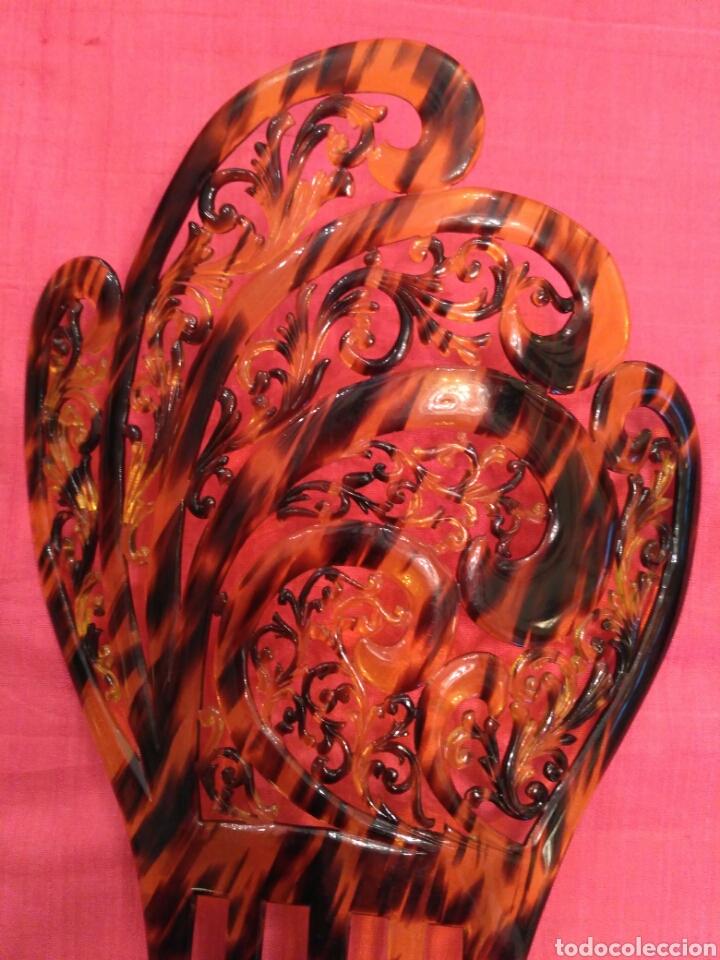 Antigüedades: Peineta 25 cm simil carey años 20 - Foto 3 - 71899890