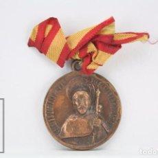 Antigüedades: MEDALLA RELIGIOSA - SANTIAGO DE COMPOSTELA / APÓSTOL - AÑO SANTO COMPOSTELANO, 1954. Lote 71911603
