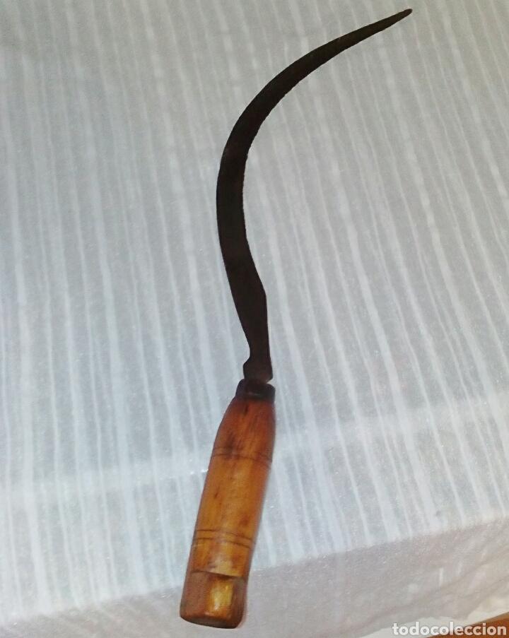 HOZ VALENCIANA. MADERA Y HIERRO. 48 CM DE LARGO. (Antigüedades - Técnicas - Rústicas - Agricultura)