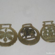 Antigüedades: 3 HEBILLAS DE BRONCE. Lote 71915859