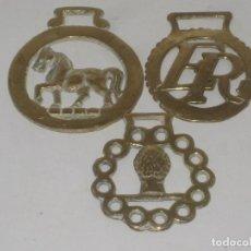 Antigüedades: 3 HEBILLAS DE BRONCE. Lote 71916599