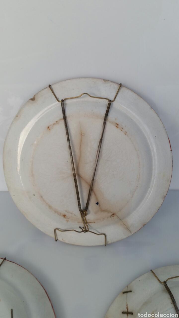 Antigüedades: LOTE 3 PLATOS PORCELANA WEDGWOOD APROX FINAL S XVIII CON LAÑAS - Foto 6 - 71920623