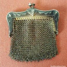 Antigüedades: MONEDERO DE MALLA. PLATA. SIGLO XIX. . Lote 88131800
