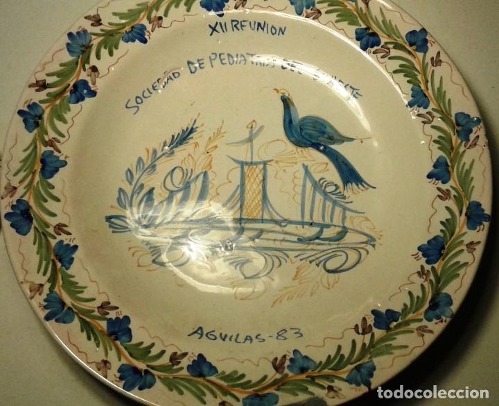 FUENTE CONMEMORATIVA (Antigüedades - Porcelanas y Cerámicas - Lario)