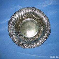 Antigüedades: FRUTERO EN BAÑO DE PLATA. DIAMETRO 26 CM. Lote 72027651