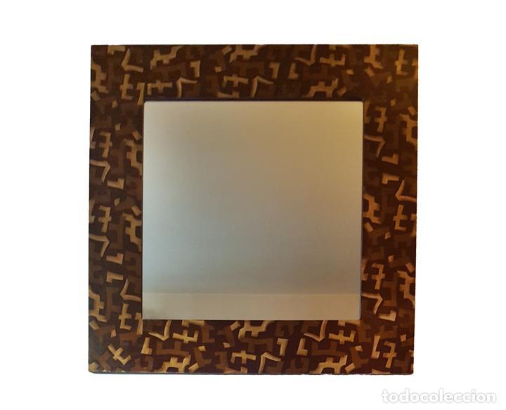 ESPECTACULAR ESPEJO DE ROCHE BOBOIS, 110 X 110. (Antigüedades - Muebles Antiguos - Espejos Antiguos)