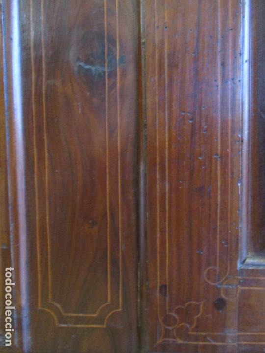 Antigüedades: Antiguo Armario - Barroco Catalán - Madera de Nogal - Marquetería Madera de Boj - Siglo XVIII - Foto 9 - 72043843