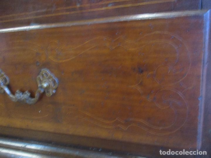 Antigüedades: Antiguo Armario - Barroco Catalán - Madera de Nogal - Marquetería Madera de Boj - Siglo XVIII - Foto 25 - 72043843