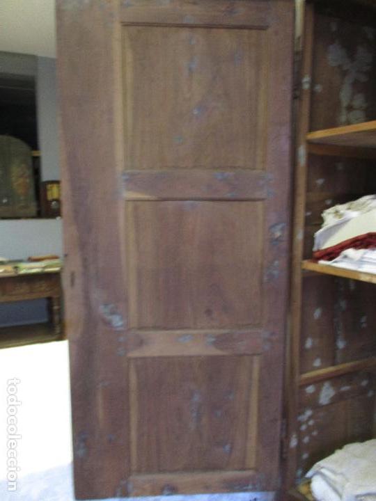 Antigüedades: Antiguo Armario - Barroco Catalán - Madera de Nogal - Marquetería Madera de Boj - Siglo XVIII - Foto 31 - 72043843