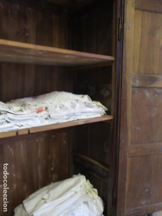Antigüedades: Antiguo Armario - Barroco Catalán - Madera de Nogal - Marquetería Madera de Boj - Siglo XVIII - Foto 35 - 72043843