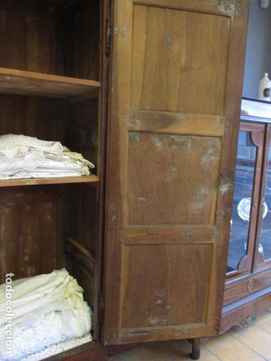 Antigüedades: Antiguo Armario - Barroco Catalán - Madera de Nogal - Marquetería Madera de Boj - Siglo XVIII - Foto 37 - 72043843