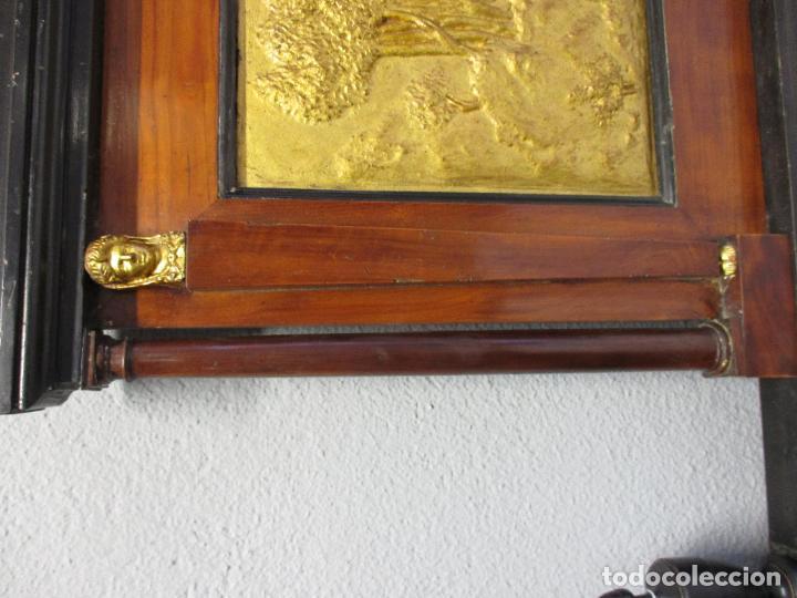 Antigüedades: Antigua Cama - Carlos IV - Madera de Caoba - Escultura en Terracota - Finales Siglo XVIII - Foto 13 - 72047155