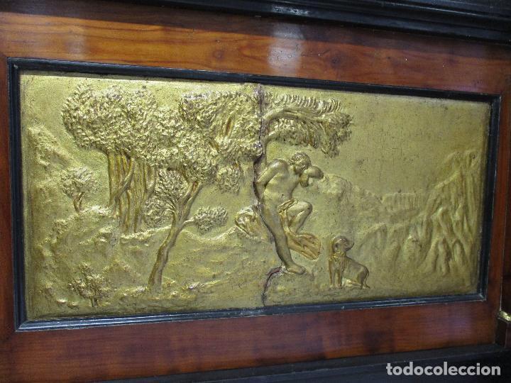 Antigüedades: Antigua Cama - Carlos IV - Madera de Caoba - Escultura en Terracota - Finales Siglo XVIII - Foto 17 - 72047155