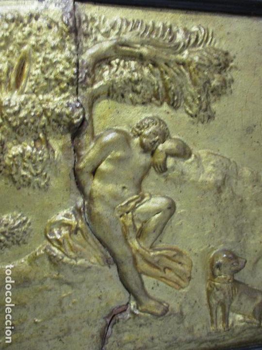 Antigüedades: Antigua Cama - Carlos IV - Madera de Caoba - Escultura en Terracota - Finales Siglo XVIII - Foto 19 - 72047155