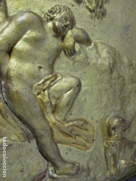Antigüedades: Antigua Cama - Carlos IV - Madera de Caoba - Escultura en Terracota - Finales Siglo XVIII - Foto 21 - 72047155