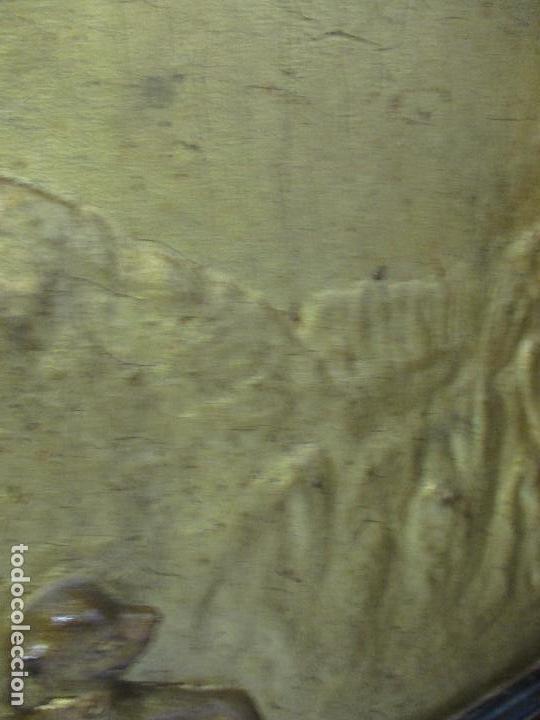 Antigüedades: Antigua Cama - Carlos IV - Madera de Caoba - Escultura en Terracota - Finales Siglo XVIII - Foto 22 - 72047155
