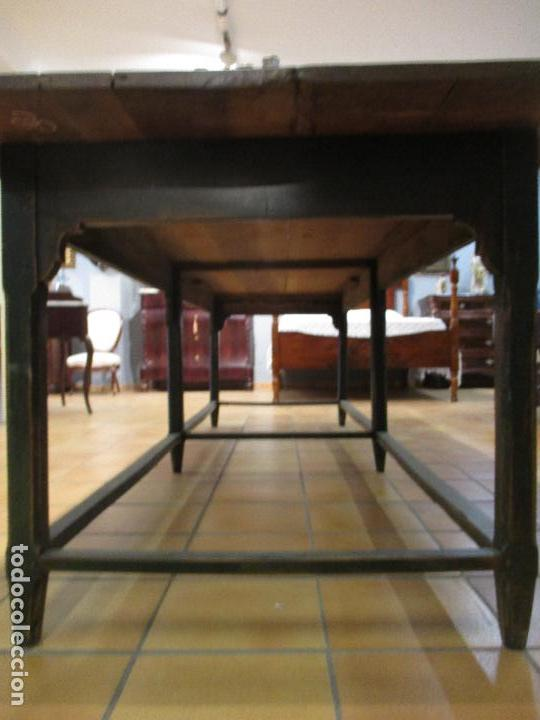 Antigüedades: Gran Mesa Antigua - Madera de Olmo - 305 cm Largo x 99,5 cm Ancho - Principios S. XIX - Foto 4 - 72049195