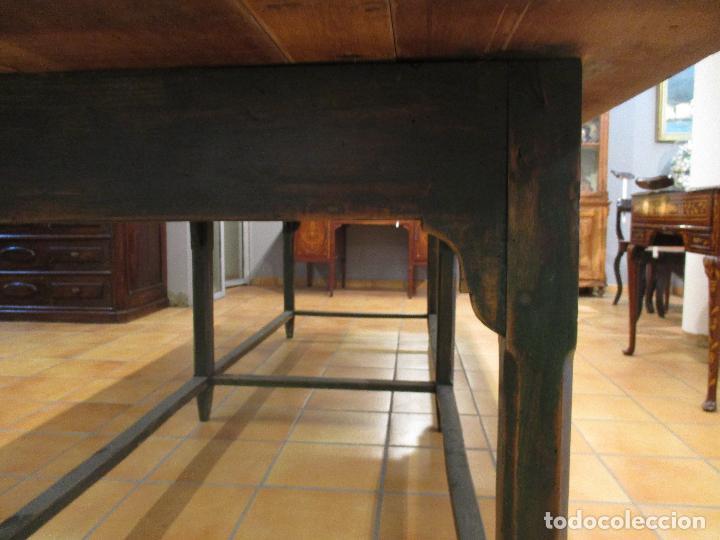 Antigüedades: Gran Mesa Antigua - Madera de Olmo - 305 cm Largo x 99,5 cm Ancho - Principios S. XIX - Foto 16 - 72049195