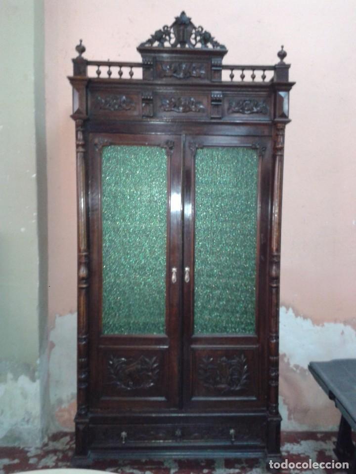 Armario Vitrina Antigua : Armario librer?a vitrina antigua alfonsina libr comprar